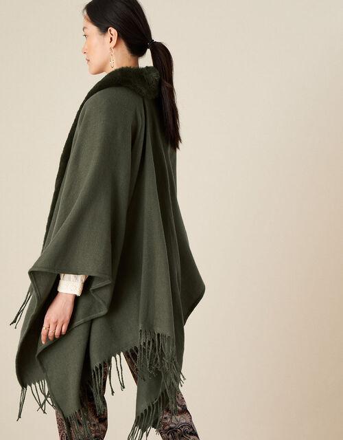 Faux Fur Wrap Cover-up, , large