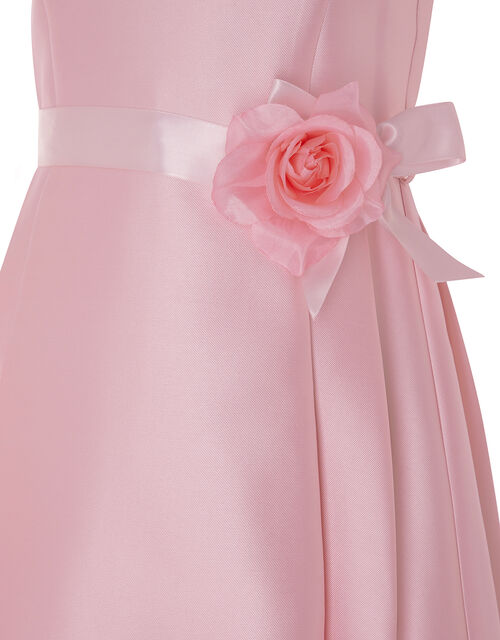 Lucinda Twill and Lace Occasion Dress, Pink (PALE PINK), large