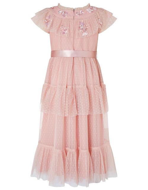 Isabella Pink Embellished Maxi Dress, Pink (PINK), large