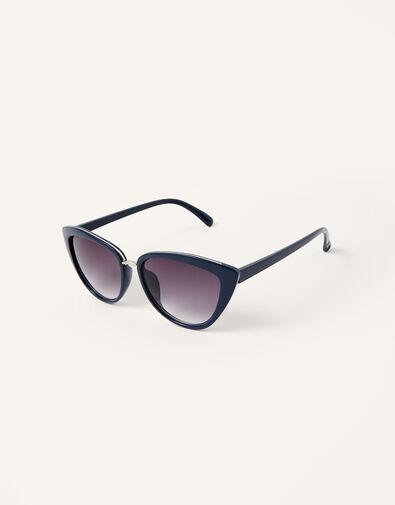 Charlie Cat Eye Sunglasses Blue, Blue (NAVY), large