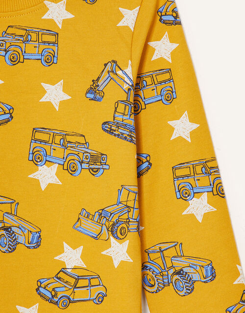 Digger Sweatshirt, Yellow (MUSTARD), large