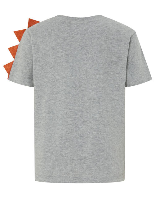 Felix Fire Printed Dinosaur T-shirt, Grey (GREY), large