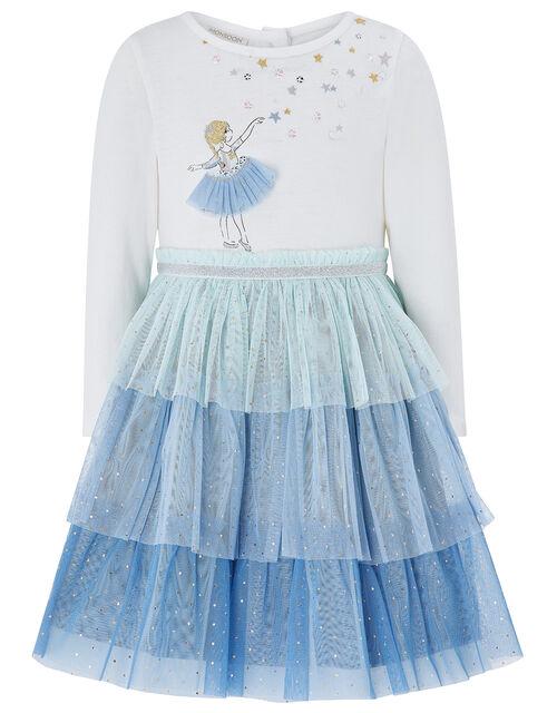Baby Anna Disco Dress, Blue (BLUE), large