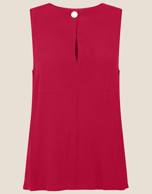 Button Tank Top, Red (BERRY), large