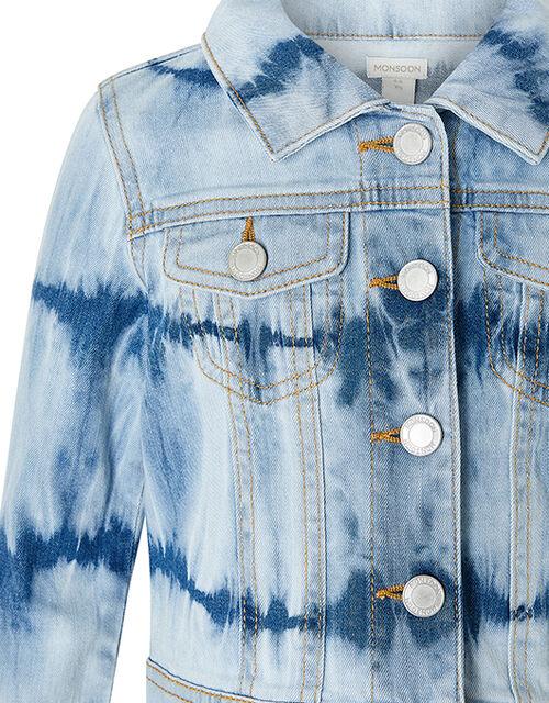 Tie-Dye Denim Jacket, Blue (BLUE), large