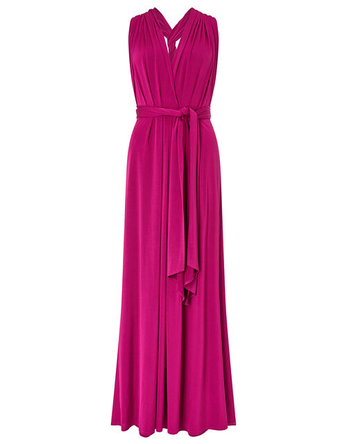 Tallulah Twist Me Tie Me Jersey Bridesmaid Dress, Pink (PINK), large