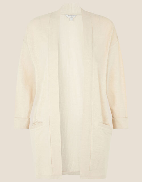 Plain Cover Up in Linen Blend , Natural (STONE), large