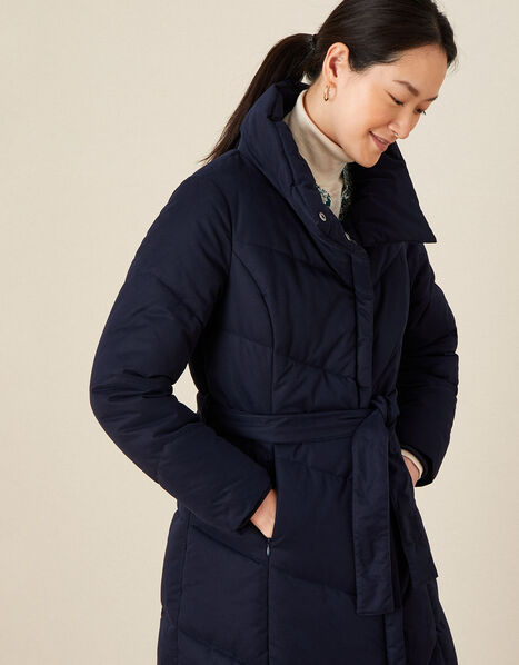 Paige Padded Coat Blue, Blue (NAVY), large