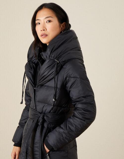 Lauren Padded Maxi Coat, Black (BLACK), large