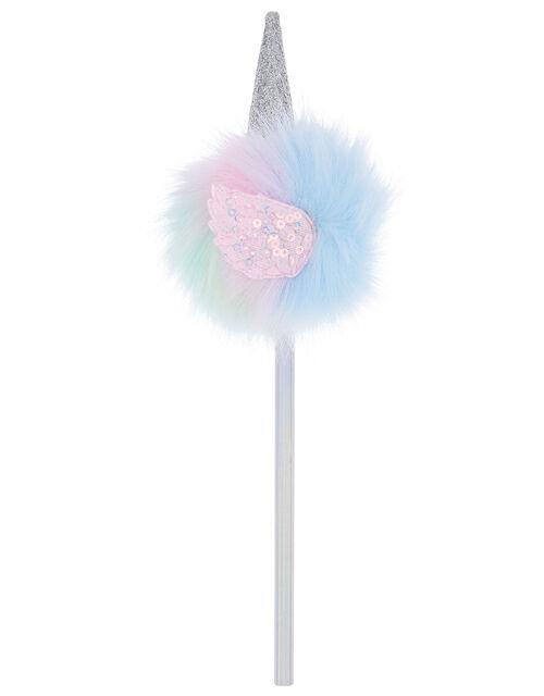 Rainbow Unicorn Pom Pencil, , large
