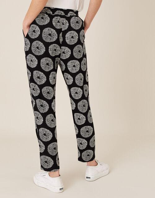ARTISAN STUDIO Circle Print Trousers, Black (BLACK), large