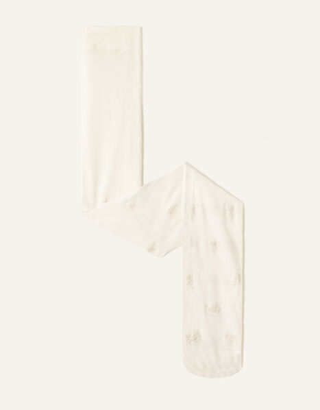 Shimmer Spot Tights Ivory, Ivory (IVORY), large