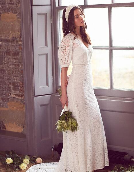 Nicky Beaded Lace Bridal Dress Ivory, Ivory (IVORY), large