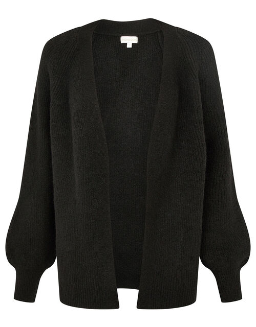 Cosy Knit Cardigan in Wool Blend, Black (BLACK), large
