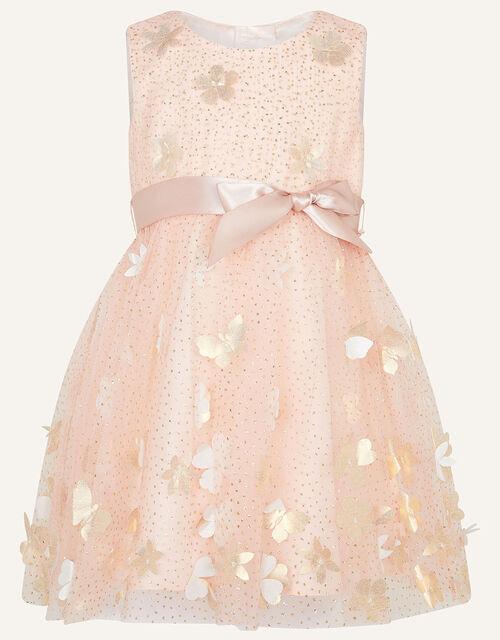 Baby Petal Glitter Dress, Pink (PINK), large