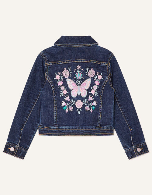 Butterfly Denim Jacket, Blue (BLUE), large