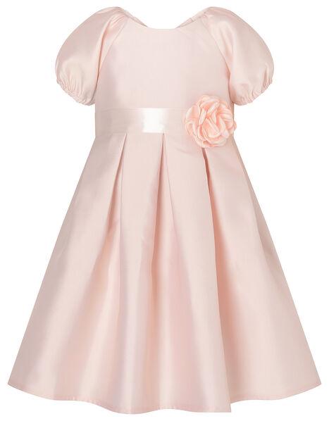 Baby Corsage Belt Duchess Twill Dress Pink, Pink (PINK), large