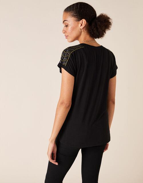 Heat-Seal Gem T-shirt, Black (BLACK), large