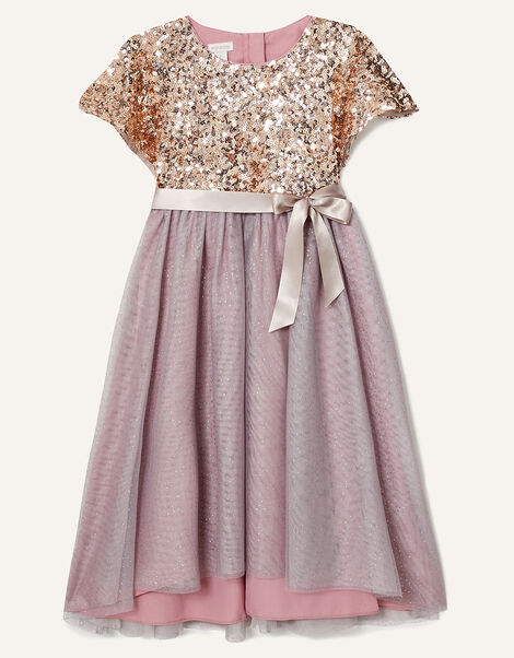 Truth Cape Sleeve Dress  Pink, Pink (DUSKY PINK), large