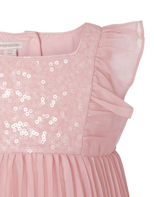 Baby Sequin Frill Dress, Pink (PINK), large