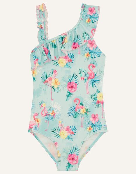 Florence Flamingo Swimsuit Blue, Blue (AQUA), large