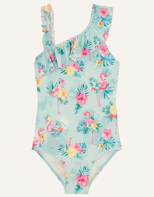 Florence Flamingo Swimsuit, Blue (AQUA), large