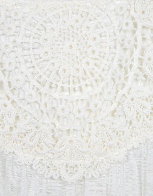 Baby Estella Lace Bodice Occasion Dress, Ivory (IVORY), large