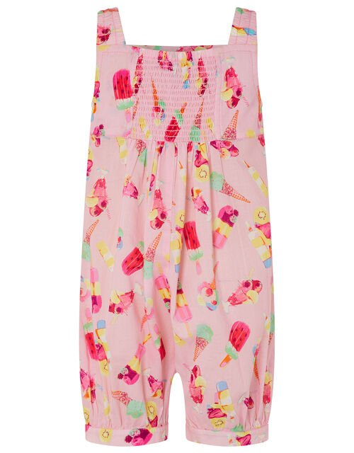 Baby Erica Ice Cream Jumpsuit in Organic Cotton, Pink (PALE PINK), large