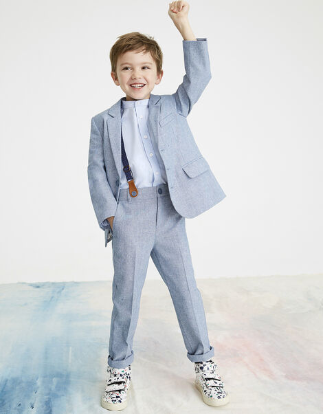 Nathan Chambray Three-Piece Suit Set Blue, Blue (BLUE), large