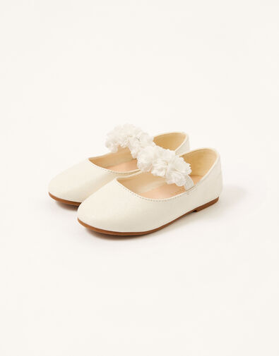 Corsage Shimmer Walker Shoes Ivory, Ivory (IVORY), large