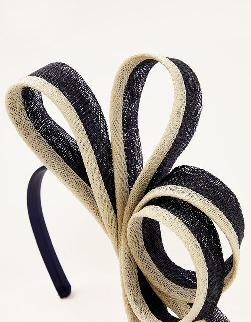 Two-Tone Bow Fascinator, , large