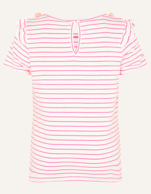 Fiesta Stripe Pom-Pom Top, Pink (BRIGHT PINK), large