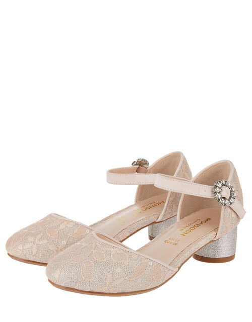 Tabitha Lace Two Part Shoe, Pink (PALE PINK), large
