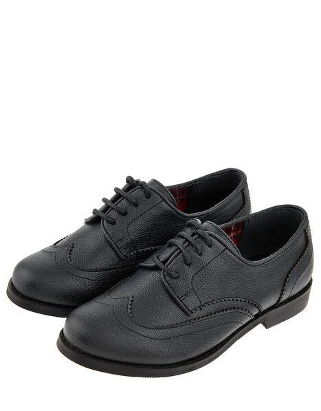 Boys' Oxford Brogue Shoes Black, Black (BLACK), large