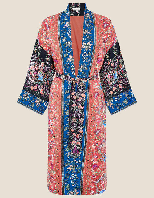 Floral Kimono in LENZING™ ECOVERO™, Orange (RUST), large