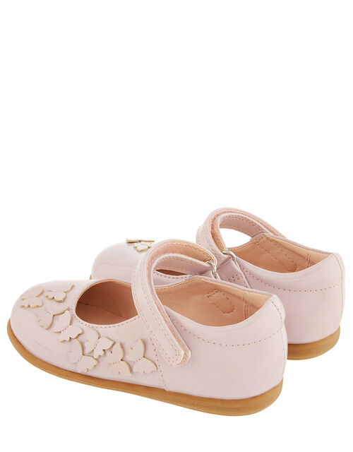 Baby Butterfly Patent Walker Shoes, Pink (PALE PINK), large
