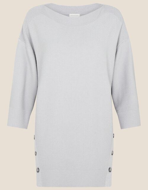 Olips Button Side Stitchy Jumper, Grey (GREY MARL), large