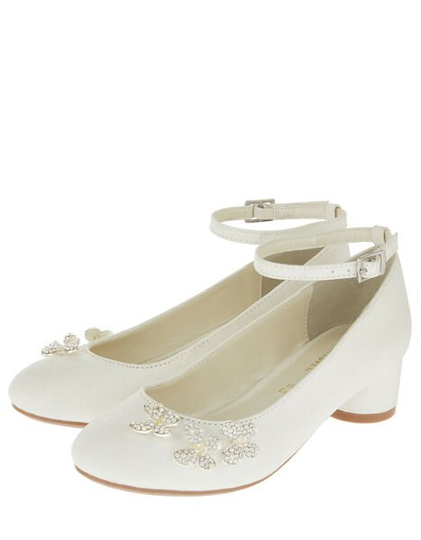 Maria Pearl Butterfly Shimmer Shoes Ivory, Ivory (IVORY), large