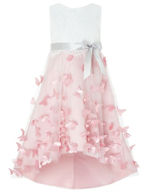 Flutter Butterfly Occasion Dress, Pink (PINK), large