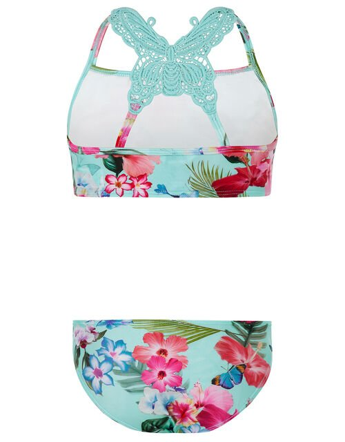 Fergie Floral Bikini with Recycled Polyester, Blue (TURQUOISE), large
