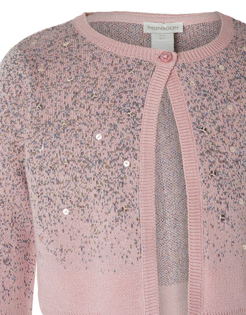 Sequin Sparkle Knit Bolero in Organic Cotton, Pink (PINK), large