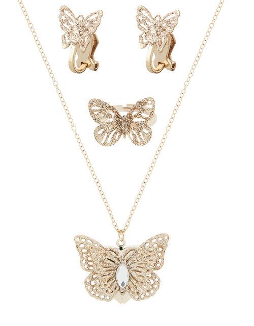Glinda Butterfly Jewellery Set, , large