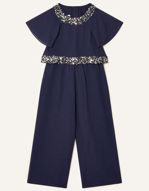 Meghan Sequin Jumpsuit, Blue (NAVY), large