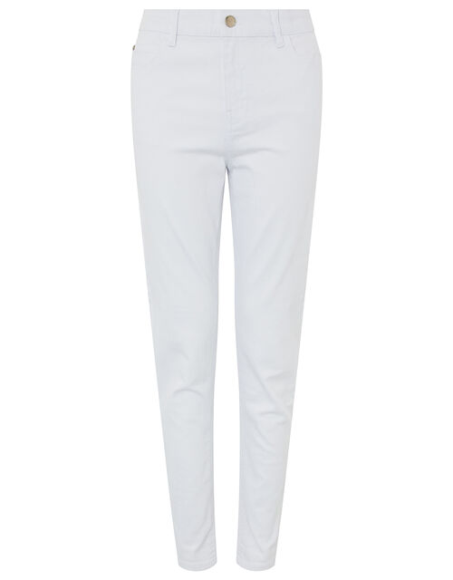 Iris Skinny Jeans with Organic Cotton and Recycled Polyester, White (WHITE), large