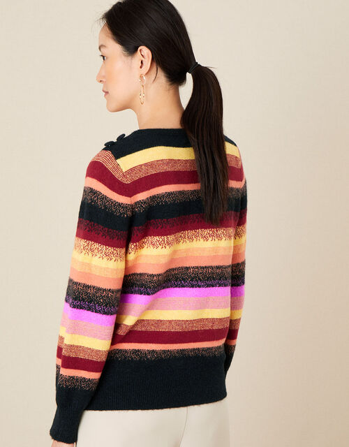 Sally Stripe Jumper, Red (BERRY), large