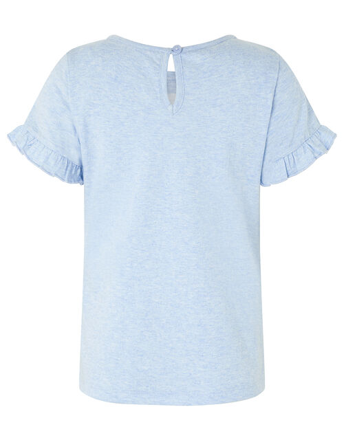 Kelsey Sequin Unicorn T-shirt, Blue (BLUE), large