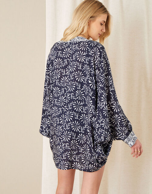 Callie Printed Cocoon Cover-Up, , large