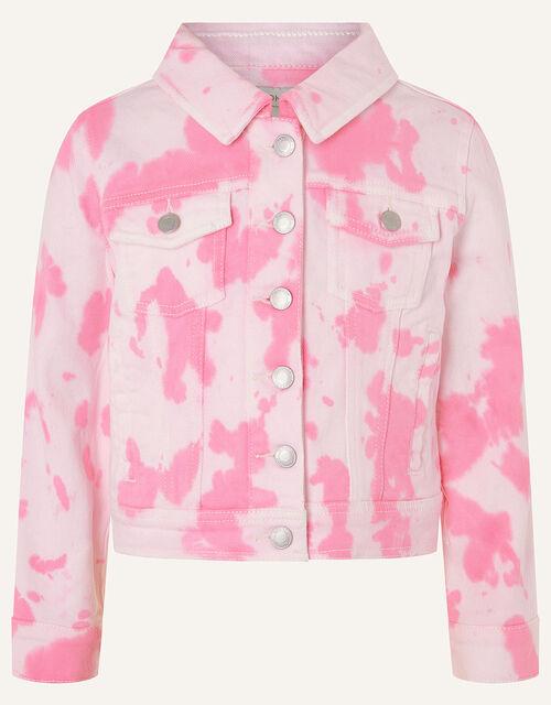 Tie Dye Denim Jacket , Pink (PINK), large