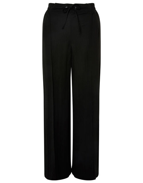 Wide-Leg Trousers, Black (BLACK), large
