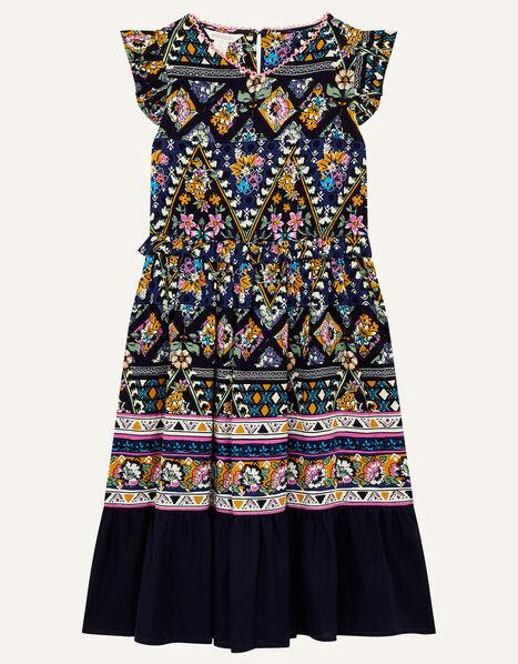 MINI ME Pablo Printed Dress Blue, Blue (BLUE), large